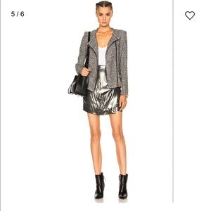 NEW • IRO • Shanina Metallic Wrap Mini Skirt 40